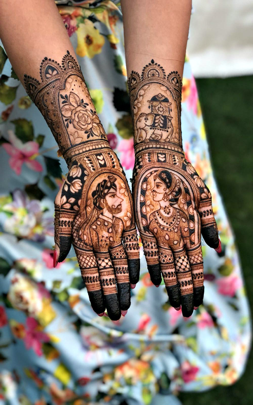 bride-groom-mehndi